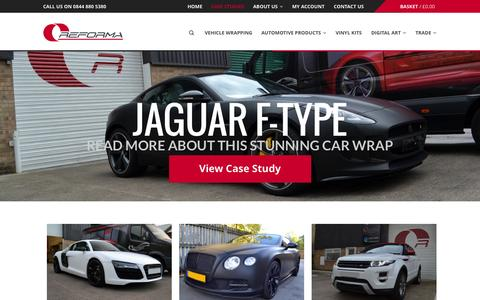 Screenshot of Case Studies Page reforma-uk.com - Case Studies - Find out more - Reforma UK - Car Wrapping - captured Oct. 29, 2014
