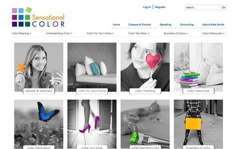 Screenshot of Home Page sensationalcolor.com - Sensational Color With Expert Kate Smith - captured Sept. 18, 2014