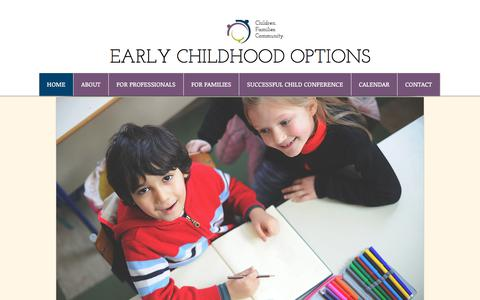 Screenshot of Home Page earlychildhoodoptions.org - ecodillon - captured July 15, 2018