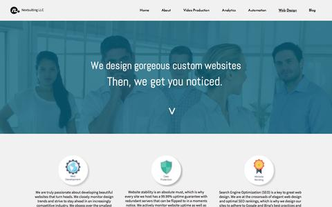 Screenshot of Landing Page nextsulting.com - Web Design - captured Aug. 15, 2015