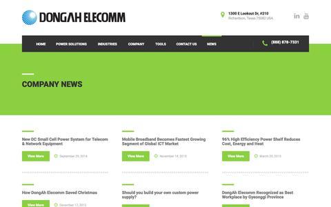 Screenshot of Press Page dongahusa.com - Company News - - captured Nov. 23, 2016