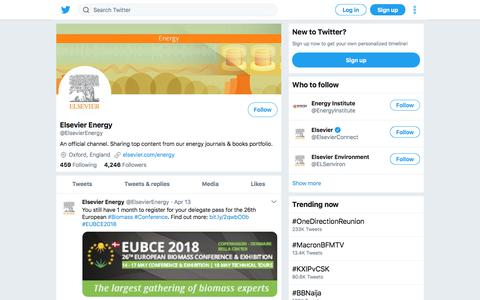 Tweets by Elsevier Energy (@ElsevierEnergy) – Twitter