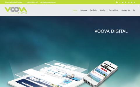 Screenshot of Home Page voovadigital.com - Web Design Digital Marketing Mobile Apps Development in Pattaya Thailand - captured Sept. 23, 2014