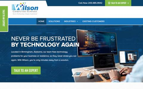 Screenshot of Home Page wilsoncomputer.com - Computer Repair Website Design and Hosting in Birmingham, Alabama - captured Nov. 8, 2019