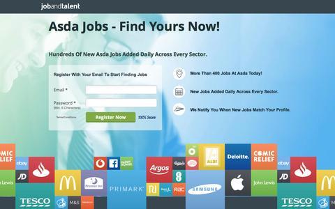 Screenshot of Landing Page jobandtalent.com - Asda Jobs - See Latest - captured Nov. 13, 2016