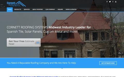 Screenshot of Home Page cornettroofing.com - Cornett Roofing - captured Jan. 31, 2016