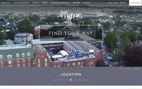 Screenshot of Maps & Directions Page hotelviking.com - Hotel Viking in Newport, RI | Hotel Viking - Location | Newport, RI Hotels - captured Sept. 22, 2018