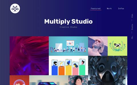 Screenshot of Home Page multiply-studio.com - Multiply Studio – Agence Creative - captured Nov. 7, 2018