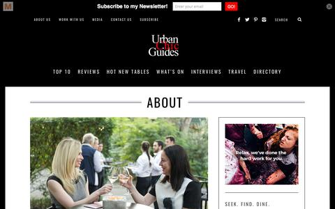 Screenshot of About Page urbanchicguides.com - About Urban Chic Guides Sydney | Sydney Restaurant Reviews, Food and Travel Blog | Urban Chic Guides - captured June 12, 2017