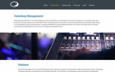 Screenshot of Team Page outerloop.group - Management - Outerloop - captured Nov. 22, 2018