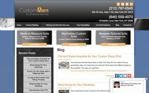 Screenshot of Blog custommen.com - Blog   NYC Custom Tailors - captured Nov. 14, 2016