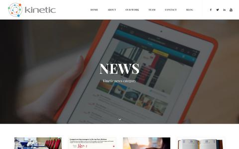 Screenshot of Press Page kineticpr.co.uk - News Archives – Kinetic - Birmingham Marketing, PR & Communications Agency - captured Oct. 15, 2018