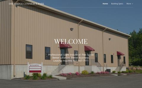 Screenshot of Home Page drybridgecommercepark.com - Dry Bridge Commerce Park | Home - captured Aug. 8, 2018