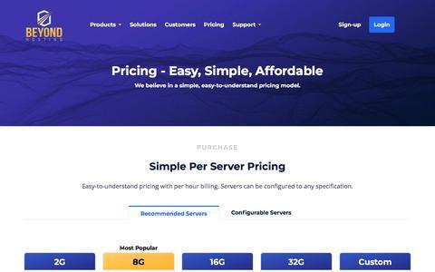 Managed Hosting Simple Pricing - Beyond Hosting