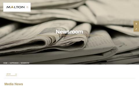 Screenshot of Press Page malton.com.my - Newsroom | Latest News and Press Releases - Malton Berhad - captured Oct. 2, 2018