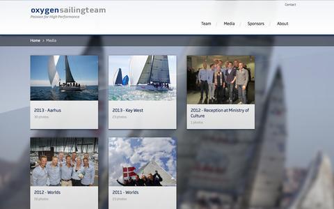 Screenshot of Press Page oxygensailingteam.com - Media - captured Oct. 26, 2014
