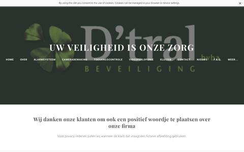 Screenshot of Testimonials Page dtral.com - testimonials - Uw veiligheid is onze zorg - captured Feb. 2, 2016