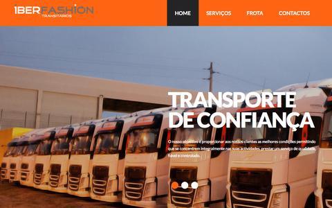 Screenshot of Home Page iberfashion.com - Iberfashion – Transitários | - captured Nov. 25, 2016