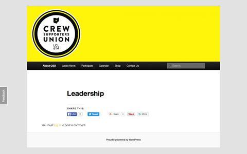 Screenshot of Team Page crewunion.com - Leadership | Crew Supporters UnionCrew Supporters Union - captured Feb. 1, 2016