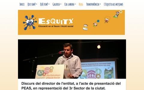 Screenshot of Blog esquitxsbd.org - Associació Juvenil Esquitx de Sabadell - captured Nov. 21, 2016