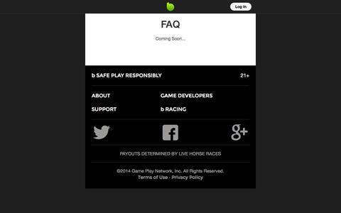 Screenshot of FAQ Page bspot.com - FAQ - captured Oct. 5, 2014