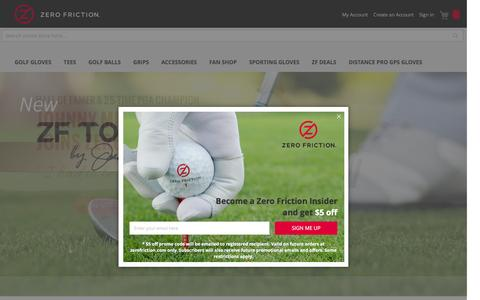 Screenshot of Home Page zerofriction.com - Zero Friction: Official Site of Zero Friction Golf Products - captured Dec. 1, 2016