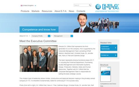 Screenshot of Team Page e-t-a.co.uk - Meet the Executive Committee | E-T-A - captured Sept. 30, 2016
