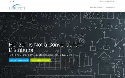 Screenshot of Home Page horizontechnology.com - Horizon Technology | Horizon Technology Authorized Hard Drive & LCD Distributor - captured Dec. 11, 2015