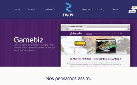 Screenshot of Home Page twovi.com.br - Twovi - E-commerce Design, Webdesign, Branding e Templates - captured Sept. 26, 2014