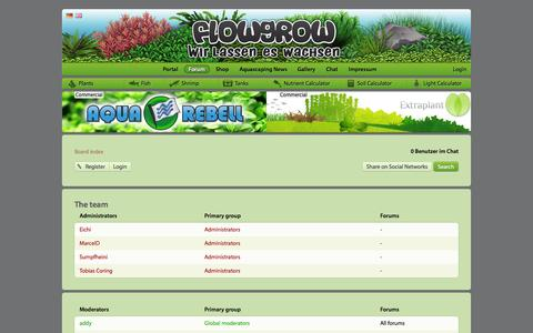 Screenshot of Team Page flowgrow.de - The team - Aquascaping - Aquarium - Wasserpflanzen - Flowgrow - captured Nov. 4, 2014