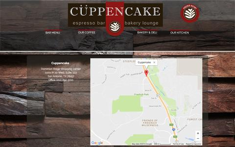 Screenshot of About Page cuppencake.com - cuppencake | LOCATION - captured Nov. 14, 2016