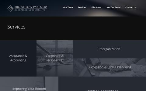 Screenshot of Services Page brownlowcas.com - Services - Brownlow Partners - captured Oct. 11, 2017