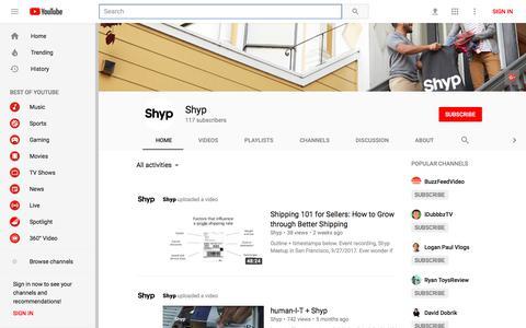 Shyp - YouTube - YouTube