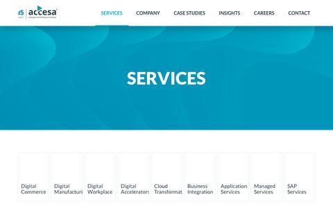 Screenshot of Services Page accesa.eu - SERVICES - ACCESA - captured Feb. 28, 2019