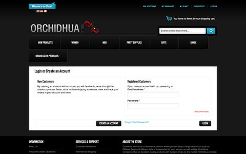 Screenshot of Login Page orchidhua.com - Customer Login - captured Oct. 26, 2014