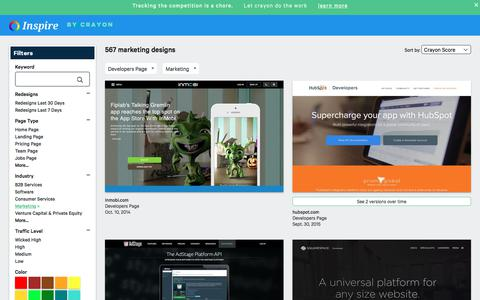 Screenshot of Developers Page crayon.co - Marketing Developers Pages | Website Inspiration and Examples | Crayon - captured Nov. 26, 2019