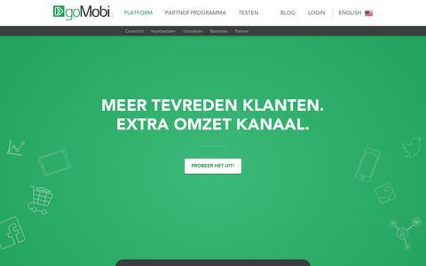 Screenshot of Home Page gomobi.nl - Mobiele Website snel en makkelijk op ieder scherm   goMobi - captured Nov. 23, 2015