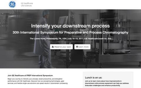 Screenshot of Landing Page gehealthcare.com - GE Healthcare PREP International Symposium - captured July 24, 2017