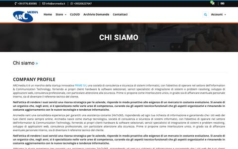 Screenshot of About Page arcmedia.it - Chi siamo - ARCmedia.it - captured Nov. 20, 2018