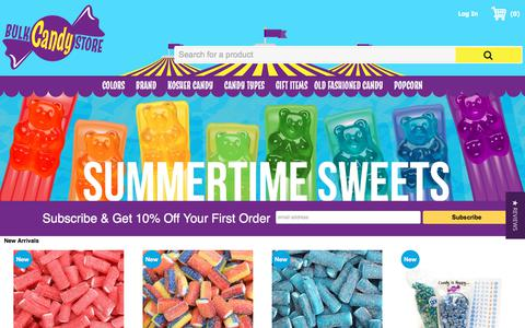 Screenshot of Home Page bulkcandystore.com - Bulk Candy Store - The Original Online Super Candy Store | Bulk Candy Store - captured Aug. 4, 2018