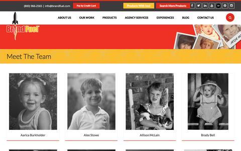 Screenshot of Team Page brandfuel.com - Meet The Team - Brand Fuel - captured May 20, 2018