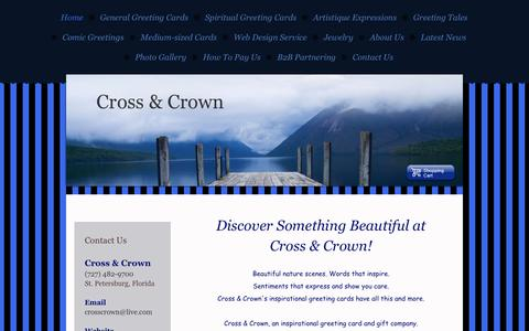 Screenshot of Home Page crosscrown.net - Home - Cross & Crown, an inspirational greeting card company - captured Sept. 30, 2014