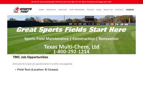 Screenshot of Jobs Page texasmultichem.com - Careers — Texas Multi-Chem, Ltd - captured Dec. 21, 2018