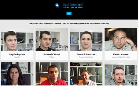 Screenshot of Team Page spaceedu.net - Space Challenges Team | Space Challenges Program - captured March 5, 2016