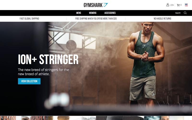 Screenshot Gymshark Gym, Fitness and Sports Clothing US | Be a visionary. – Gymshark US | Be a visionary.