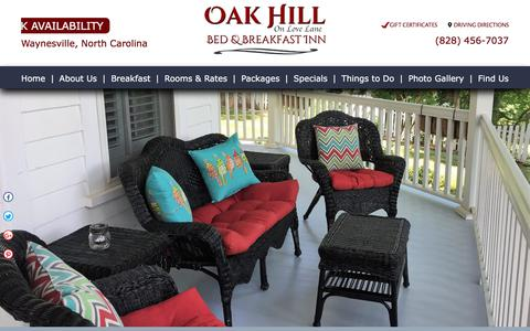 Screenshot of Contact Page Maps & Directions Page oakhillonlovelane.com - Bed and Breakfast in NC Mountains | Bed and Breakfast Blue Ridge Mountains | Oak Hill B&B - captured July 2, 2018