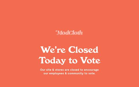 Screenshot of Signup Page modcloth.com - Sites-modcloth-Site - captured Nov. 6, 2018