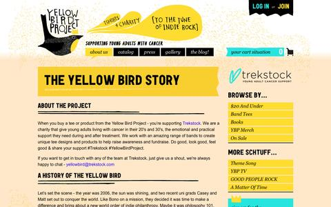 Screenshot of About Page yellowbirdproject.com - Our Story – Yellow Bird Project - captured May 4, 2017