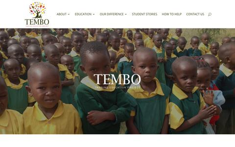 Screenshot of Home Page tembotrading.org - Tembo Trading Education Project | Tembo Trading Education Project provides an education of excellence to the children of Kenya. - captured Oct. 20, 2018