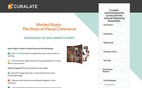 Screenshot of Landing Page curalate.com - Curalate - Market Study:  The State of Visual Commerce - captured May 11, 2016